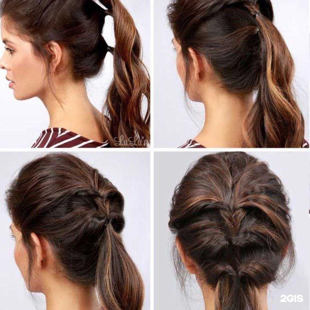 Модная прическа в школу на длинные волосы