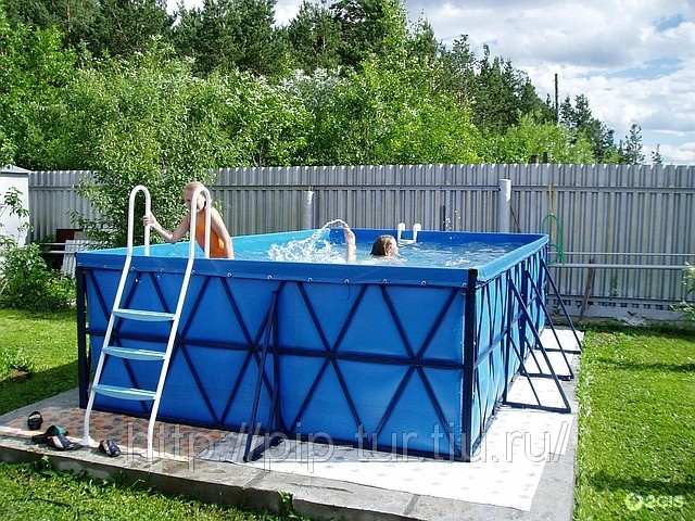 Металлический каркас для бассейна