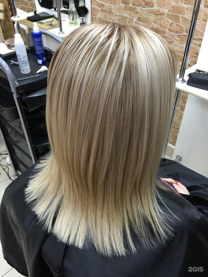 Двойное мелирование на русые волосы фото
