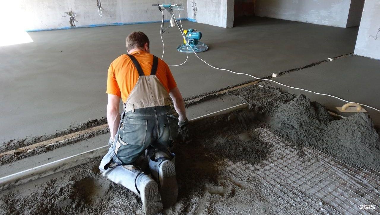расценки на бетонную стяжку пола