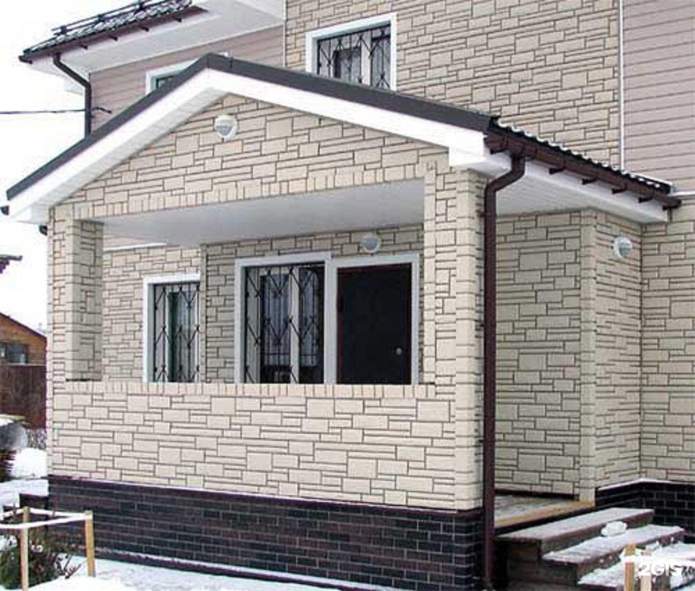 Сайдинг имитация камня: фото отделки домов.