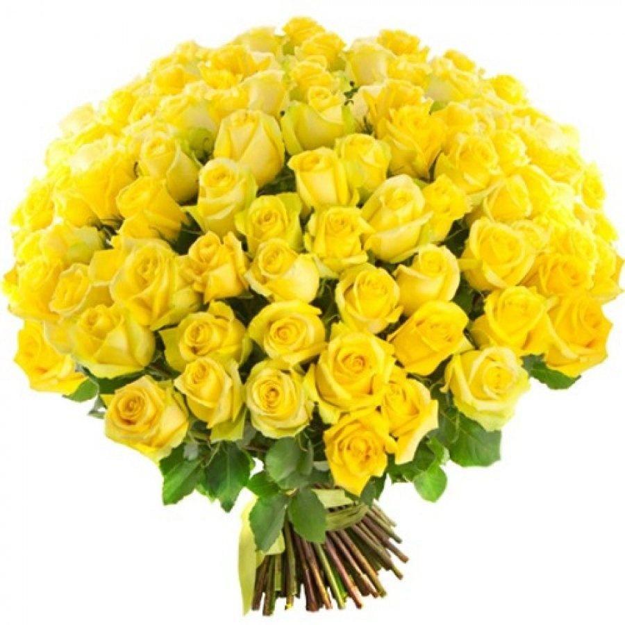 Букет белых, заказать букет из 101 подмосковной желтой розы
