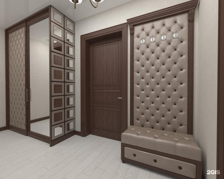 Мягкие стеновые панели, прихожие, кровати с каретной стяжкой.